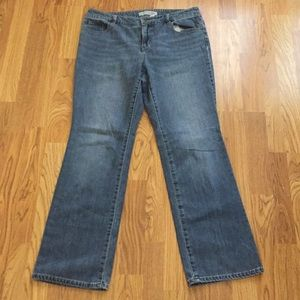Chico's Platinum Denim Jeans Sz 2 Misses 10